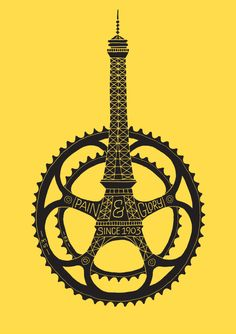 Le Tour de France 100th Anniversary Poster by Dave Foster