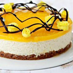 Suklainen appelsiinihyytelökakku on kevään näyttävin kakku Easter Recipes, Easter Food, Cheesecake, Nutrition, Sweets, Baking, Desserts, Japanese, Tips