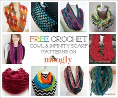 10 Free Crochet Cowl And Infinity Scarf Patterns - Free Crochet Patterns - (moogly) Col Crochet, Crochet Round, Crochet Shawl, Crochet Gifts, Crochet Hooks, Free Crochet, Crochet Wraps, Baby Booties Knitting Pattern, Knitting Patterns