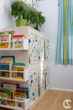 pinterest.com/mysmasken/rv-remodeling-and-storage/DYI guide to making your own IKEA Bekväm spice racks (used as bookshelves for the kid's books)