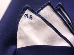 Monogrammed napkins.