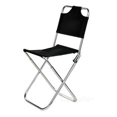 Ultra Light Aluminum Alloy Outdoor Folding Stool Fishing Chair w/ Backrest From 19,95 for Euro 15,=