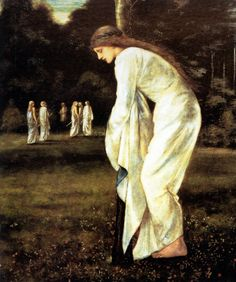 Edward Burne Jones. The Princess tied to the tree, 1866.