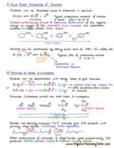 Reactions of Alcohols 3 chemistry Organic Chemistry Summary Notes — Organic Chemistry Tutor Organic Chemistry Tutor, Organic Chemistry Reactions, Study Chemistry, Chemistry Classroom, Chemistry Notes, Chemistry Lessons, Teaching Chemistry, Science Notes, Science Chemistry