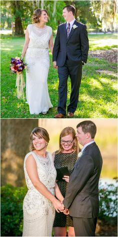 Beaded wedding dress, silver beads, sheer overlay, bridal fashion // Dana Cubbage Weddings
