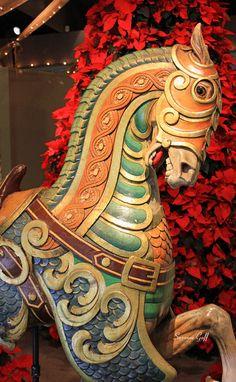 Vintage Carousel Horse Photograph - Vintage Carousel Horse