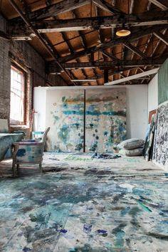It's hard to imagine not being inspired in painter Kiki Slaughter's incredible Atlanta studio space.