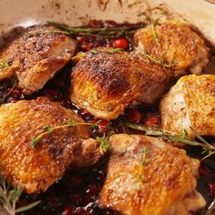 A festive holiday dinner idea. You are in the right place about smoked Meat Recipes Here we offer you the most beautiful pictures about the red Meat Recipes you are looking for. When you examine the A festive holiday dinner idea. Balsamic Chicken Recipes, Healthy Chicken Recipes, Meat Recipes, Cooking Recipes, Recipes Dinner, Recipies, Cranberry Chicken, Good Food, Yummy Food