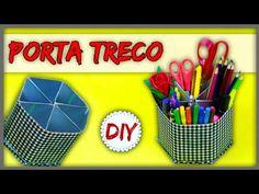 DIY: Organizador Reciclado feito com caixa de Suco/Leite - YouTube