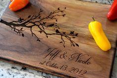 Cutting Board Love Birds Cutting Board  Laser by CountryBarnBabe