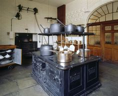Tatton Park   National Trust Images- The Kitchen with the black cooking-range at Tatton Park, Cheshire
