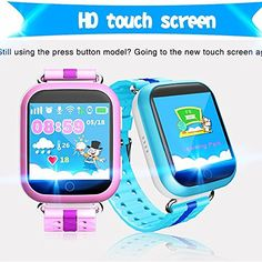Q750 Kid Smart Watch GPS Wifi LBS Monitor Locator Watch Phone 1.54 Inch Touch Screen SOS Safe Anti-Lost Location Device Tracker for kids safe (blue) | Smartwatches And Wearable Technology