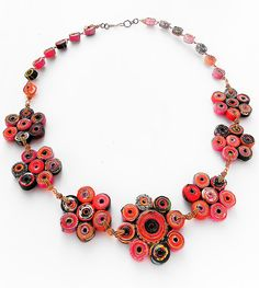 Paper Quilling Necklace. Recycled Paper Bead by FantasiasyPapel