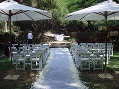 UWA sunken gardens Perth outdoor wedding ceremony