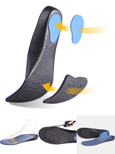 [Visit to Buy] Orthopedic insole flat foot orthotics man&women shoes arch support cushion feet care insert unisex new health pad sole TH0196 #Advertisement