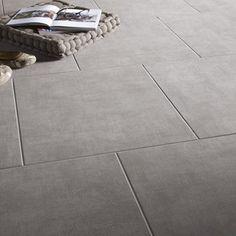 Carrelage intérieur Béton en grès cérame, gris, 45 x 45 cm