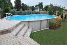 Above Ground Pool Landscaping, Above Ground Pool Decks, Backyard Pool Landscaping, Above Ground Swimming Pools, In Ground Pools, Landscaping Ideas, Backyard Ideas, Garden Ideas, Pool Cost
