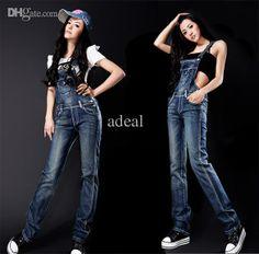 Wholesale Denim - Buy New Popular Women's Overalls Denim Jeans Suspender Trousers Jumpsuits Adeal #16206, $22.31   DHgate