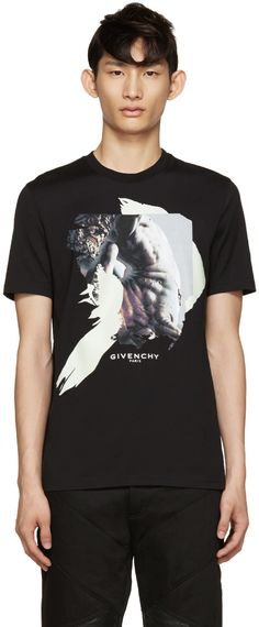 d6610e6c Givenchy - Black Centaur Collage T-Shirt Givenchy Clothing, Givenchy T Shirt,  Givenchy