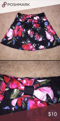 Floral skirt Black and floral print full skirt. Charlotte Russe Skirts A-Line or Full