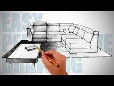 How to draw furniture - Easy Perspective Drawing 12 - YouTube