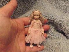 Miniature handmade GIRL CHILD BALLET BALLERINA ooak DOLLHOUSE DOLLSHOUSE JOINTED Tiny World, Bear Doll, Dollhouse Furniture, Handmade Baby, Miniature Dolls, Doll Houses, Teddy Bears, Dollhouse Miniatures, Ballerina