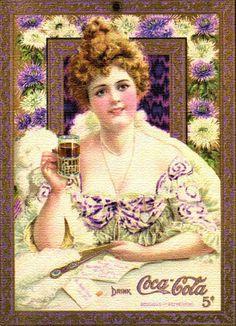 Hilda Clark, the first woman in advertisements for Coca Cola  Hilda Clark: la primera mujer en la publidad de Coca Cola