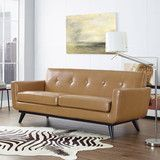 Modway Furniture Engage Bonded Leather Loveseat  #design #homedesign #modern #modernfurniture #design4u #interiordesign #interiordesigner #furniture #furnituredesign #minimalism #minimal #minimalfurniture