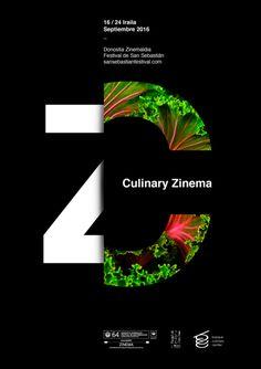 料理と映画部門のポスターデザイン