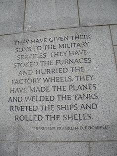 World War II Memorial, Washington DC.