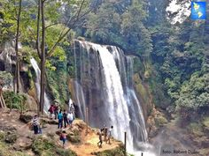 Pullapanzak is the most visited waterfall in the Country  and are located in the Yojoa Lake area  Majestic !