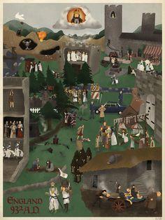 Maxim Dalton Monty Python and the Holy Grail art print.