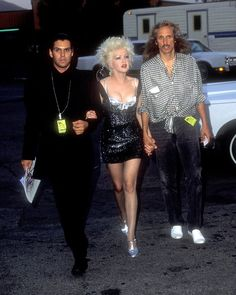 Lauper arrives at the MTV Video Music Awards in metallics and silver. via @AOL_Lifestyle Read more: http://www.aol.com/article/2013/06/22/cyndi-laupers-style-transformation/20630043/?a_dgi=aolshare_pinterest#slide=12478