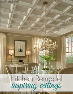 Deep into blog post is a living room with fireplace/mantle/vaulted ceiling similar to ours....Pretty!  Kitchen Remodel: Ceiling Inspiration - simply organized
