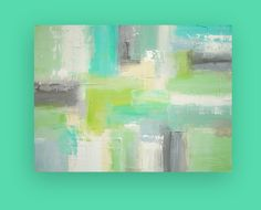 Abstract Art on Canvas Titled Exhale II by OraBirenbaumArt on Etsy