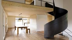 swissstairs® - helical staircase rustic