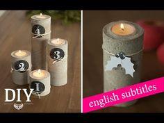 DIY: Cooler Adventskranz aus Beton / Advent wreath made of concrete   Deko Kitchen - YouTube