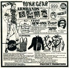 'Printout Promotions' advertisement for punk gear, NME, 29th March 1980, page 47. - TinTrunk: NME fashions, 1980