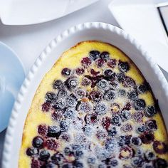 Summer Berry Clafoutis | Jean-Louis Palladin's flourless dessert is more like a delicate custard with fruit than like the usual sturdy country clafoutis.