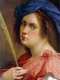 Artemisia Gentileschi, 1593 - h.1654 Artemisia aprende el oficio en el taller de su padre, Orazio Gentileschi. Pintora de la escuela de Caravaggio, con un claroscuro más acenturado y dramático, es apreciada entre los grandes artistas de su época por sus retratos y escenas con heroínas bíblicas. Se convierte en pintora de la corte y es la primera mujer en ingresar en la Accademia del Disegno de Florencia.