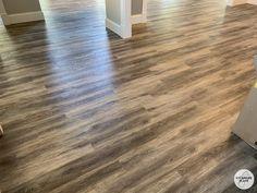 House Build Week 62-66 Building Section, Building A House, Vinyl Plank Flooring, Hardwood Floors, Pallet Towel Rack, Mannington Adura, Rolling Ladder, Dining Room Fireplace, Oak Harbor