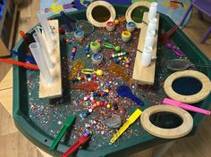 Science in the Reception class. Using magnets and colour paddles in an open ended way. This activity promotes exploration of colour, space, space, measure. This activity also provides counting opportunities. EYFS