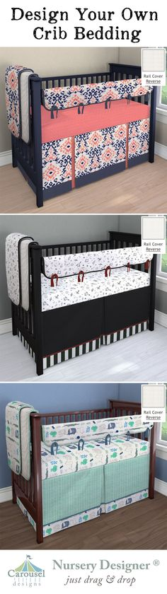 Designing your baby's nursery is personal and fun. Carousel Designs can help make your nursery unique and extra special with custom crib bedding, drapery panels, and a personalized crib sheet.