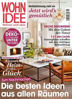 Zeitschrift Zuhause Wohnen einrichten dekorieren mit ideen die ganz leicht gelingen
