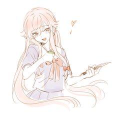 saikorashii: 미래일기#WoOF Yandere Anime, Manga Anime, Anime Art, Asuna, Yuno Mirai Nikki, Mirai Nikki Future Diary, Pikachu, Yuno Gasai, Film D'animation