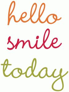 Silhouette Online Store: hello, smile, today