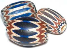"""One of the best known, oldest and most interesting bead is called the """"chevron"""", also called """"star"""", """"patermoster"""" (our father's), or """"sun"""" bead. This complex and very colorful bead has been found in many part of the United States and Canada, as well as other parts of the world. In the Southwest, the chevron can be connected with early Spanish expeditions."""