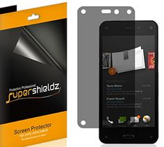 [2 Pack] SUPERSHIELDZ- Privacy Anti-Spy Screen Protector Shield For Amazon Fire Phone + Lifetime Replacements Warranty - Retail Packaging Reviews - http://www.knockoffrate.com/cell-phones-accessories/2-pack-supershieldz-privacy-anti-spy-screen-protector-shield-for-amazon-fire-phone-lifetime-replacements-warranty-retail-packaging-reviews/