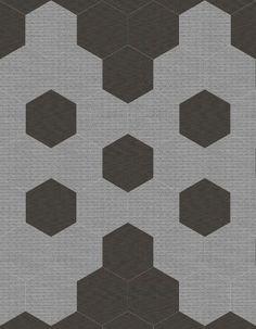 "Black Fox & Silver Fox 8"" Hexagon Tile Patterns Tile Stores, Flooring Store, Hexagon Tiles, Tile Patterns, Portland Oregon, Porcelain Tile, Fox, Ceramics, Rugs"