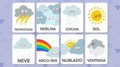 Aprendendo sobre o clima | Cartões educativos | Lume Online Spanish Classes, Toddler Learning, Kids Rugs, Teaching, Activities, Education, Crafts, Professor, Homeschooling